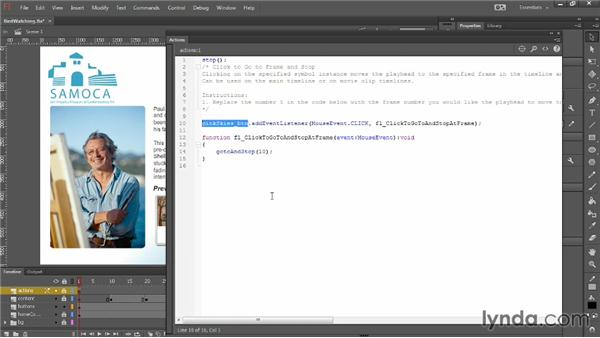 Timeline control: Up and Running with Flash Professional CC
