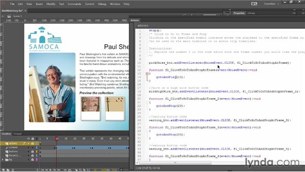 Combining motion tweens and ActionScript: Up and Running with Flash Professional CC