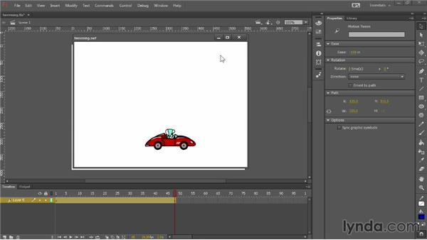 Motion tweening tips and tricks: Up and Running with Flash Professional CC