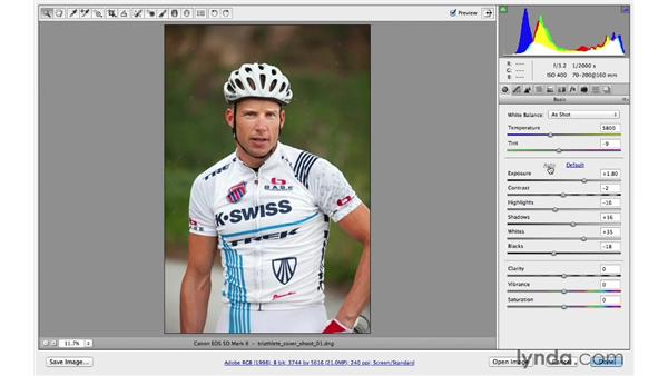 Correcting exposure with the Basic panel: Photoshop CC for Photographers: Camera Raw 8 Fundamentals