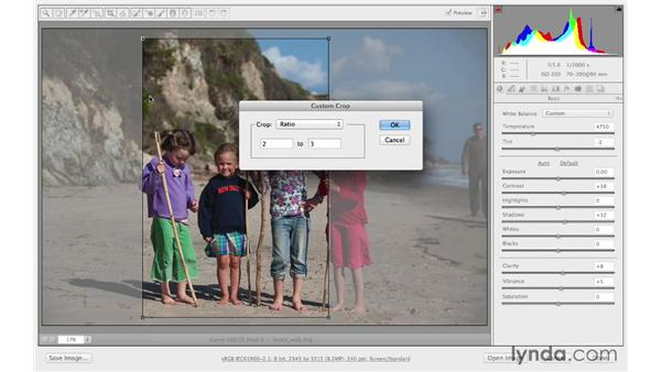 Cropping to a custom ratio or size: Photoshop CC for Photographers: Camera Raw 8 Fundamentals
