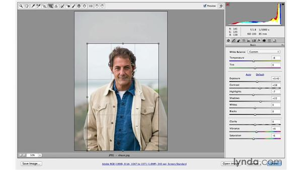 Using the crop overlay: Photoshop CC for Photographers: Camera Raw 8 Fundamentals