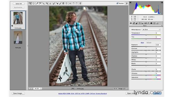 Rotating and cropping an image with the Crop tool: Photoshop CC for Photographers: Camera Raw 8 Fundamentals