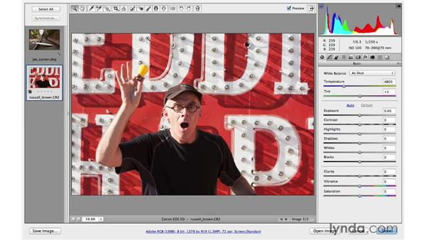 Straightening your photograph: Photoshop CC for Photographers: Camera Raw 8 Fundamentals