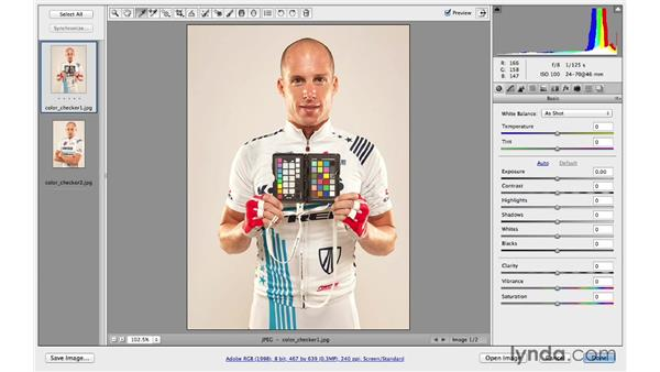 Precise color correcting with white balance cards: Photoshop CC for Photographers: Camera Raw 8 Fundamentals