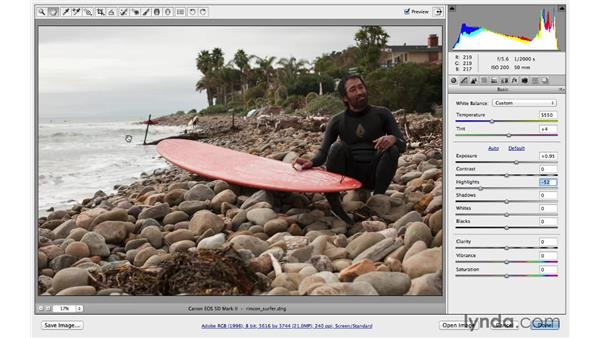 Correcting exposure: Photoshop CC for Photographers: Camera Raw 8 Fundamentals