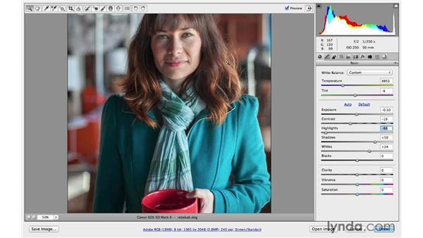Making exposure enhancements: Photoshop CC for Photographers: Camera Raw 8 Fundamentals