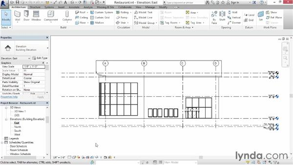Opening and navigating a project: Up and Running with Revit