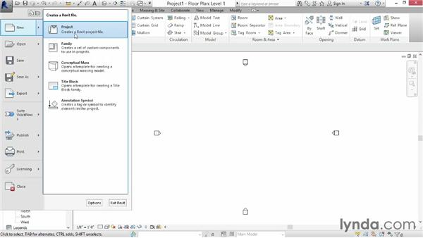 Choosing a template file: Up and Running with Revit