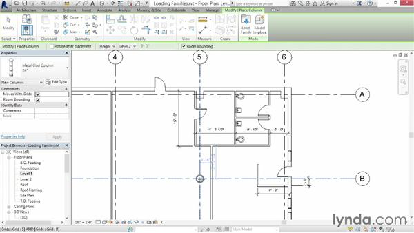 Loading families: Up and Running with Revit