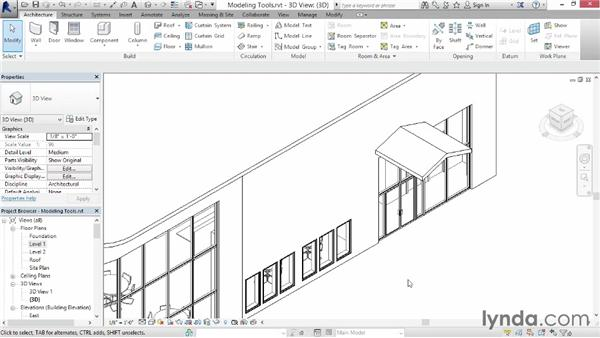 Exploring additional modeling tools: Up and Running with Revit