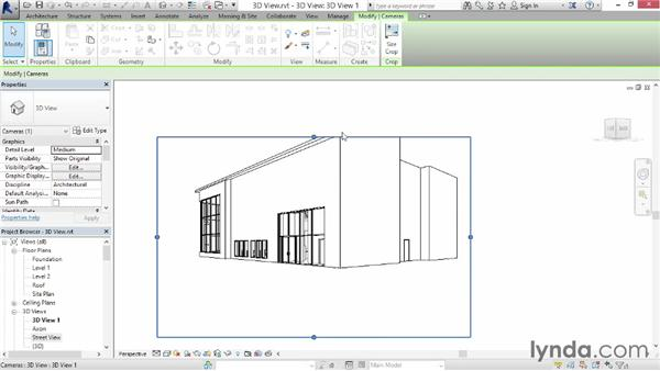 Working with 3D views: Up and Running with Revit