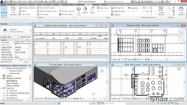 Editing in any view: Up and Running with Revit