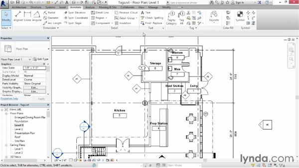 Creating tags: Up and Running with Revit