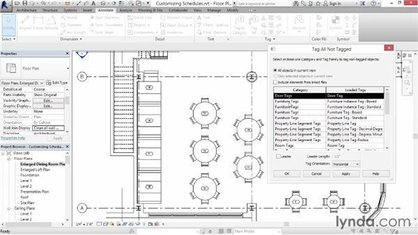Customizing a schedule view: Up and Running with Revit