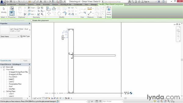 Creating a construction detail: Up and Running with Revit