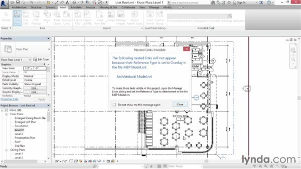 Linking another Revit file: Up and Running with Revit