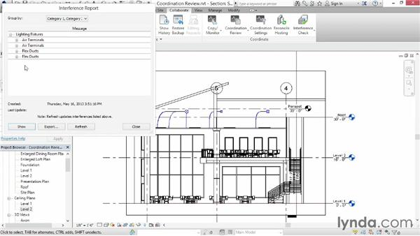 Performing an interference check: Up and Running with Revit