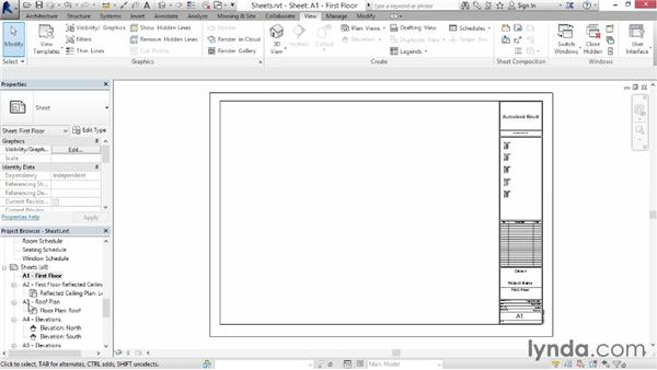 Creating sheets: Up and Running with Revit