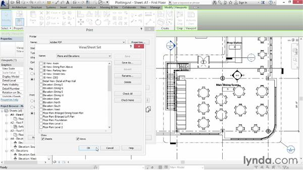 Plotting a set of documents: Up and Running with Revit