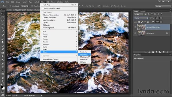 Adding local contrast: Photoshop Artist in Action: Tim Grey's Photo Optimization Techniques