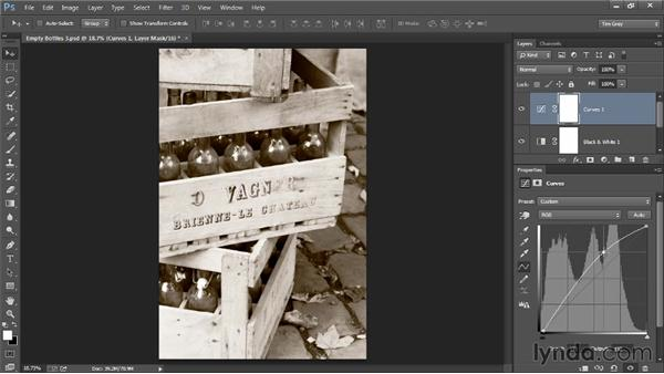 Creating a faded effect: Photoshop Artist in Action: Tim Grey's Photo Optimization Techniques