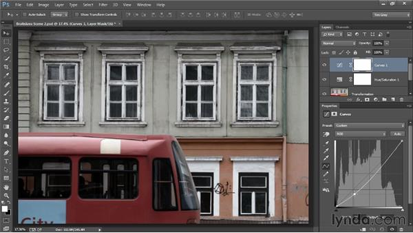 Adjustments to create a dreary effect: Photoshop Artist in Action: Tim Grey's Photo Optimization Techniques