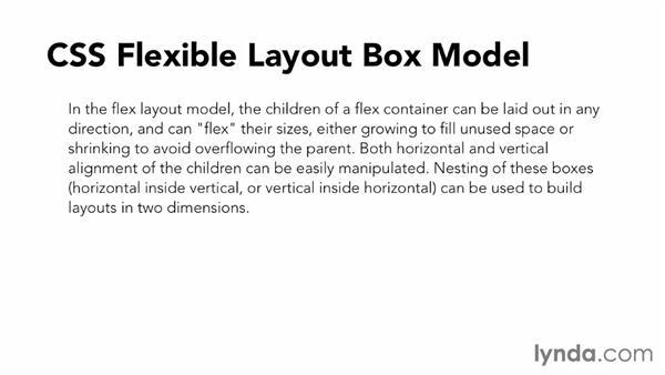 Flexbox overview: CSS: Flexbox First Look