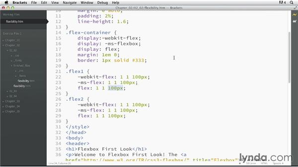 Controlling element flexibility: CSS: Flexbox First Look