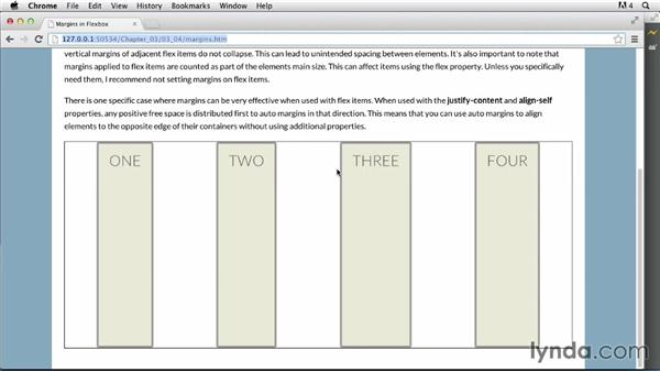 Flex item margins: CSS: Flexbox First Look