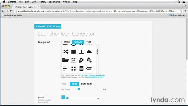 Creating a launcher icon: Building a Note-Taking App for Android (2013)