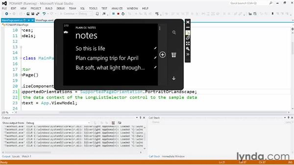 Handling orientation changes: Building a Note-Taking App for Windows Phone 8 and Windows Store