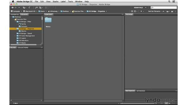 Moving and renaming folders: Photoshop CC for Photographers: Intermediate