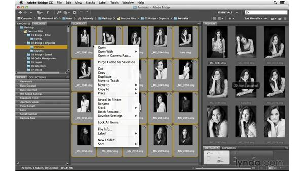 Quickly renaming one or more images: Photoshop CC for Photographers: Intermediate