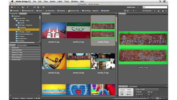 Rejecting and deleting files: Photoshop CC for Photographers: Intermediate