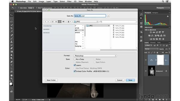 Batch processing multiple files at once: Photoshop CC for Photographers: Intermediate