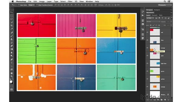 Increasing the size of the Layers panel: Photoshop CC for Photographers: Intermediate