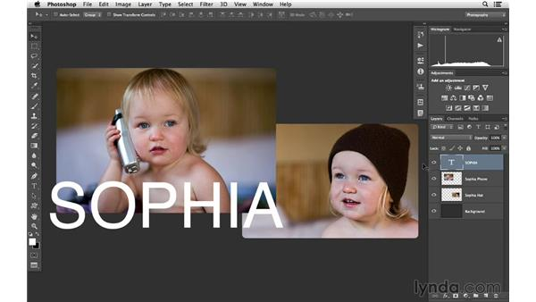 An advanced way to select and reorder layers: Photoshop CC for Photographers: Intermediate