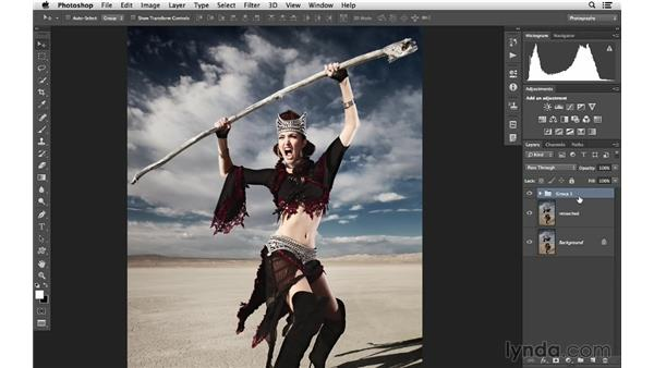 Merging all layers to the top: Photoshop CC for Photographers: Intermediate