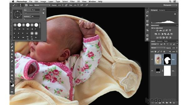 Improving the edges of a mask and masking shortcuts: Photoshop CC for Photographers: Intermediate