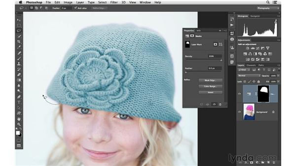 Refining mask edges with the Maximum filter: Photoshop CC for Photographers: Intermediate