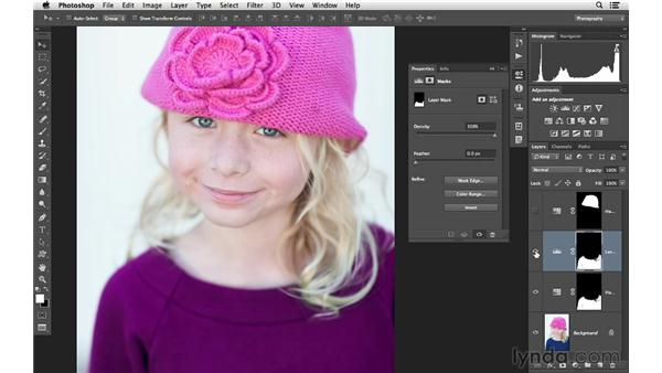 Copying masks from one layer to another: Photoshop CC for Photographers: Intermediate