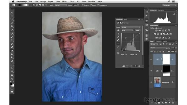 Making gradient and hand-painted masks: Photoshop CC for Photographers: Intermediate