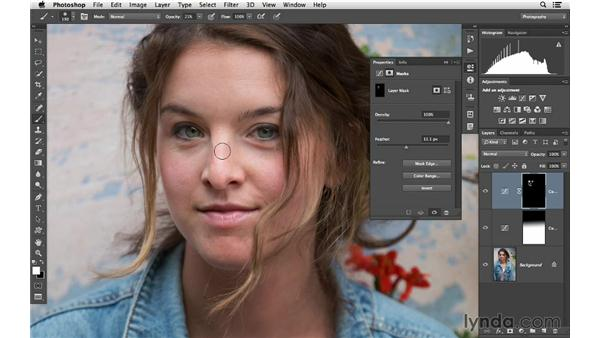 Making advanced tone corrections with hand-painted masks: Photoshop CC for Photographers: Intermediate