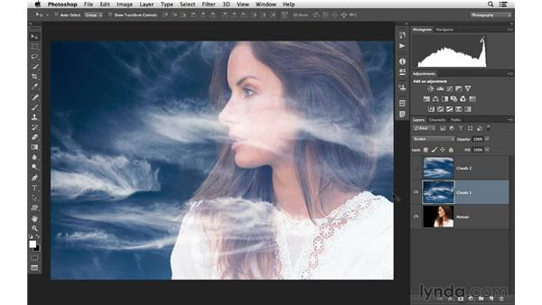 Using multiple blending modes for the best results: Photoshop CC for Photographers: Intermediate