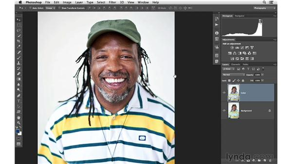 Adjusting color with Replace Color, Hue/Saturation, and masking: Photoshop CC for Photographers: Intermediate