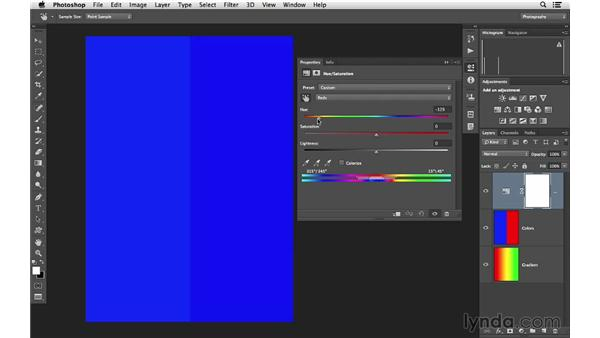 Becoming an expert with the Hue/Saturation controls: Photoshop CC for Photographers: Intermediate