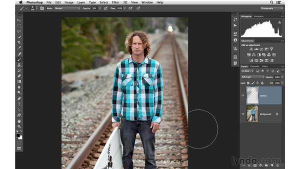 Brightening and darkening a color photograph: Photoshop CC for Photographers: Intermediate