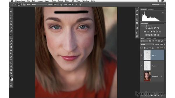 Burning and dodging with the Brush: Photoshop CC for Photographers: Intermediate