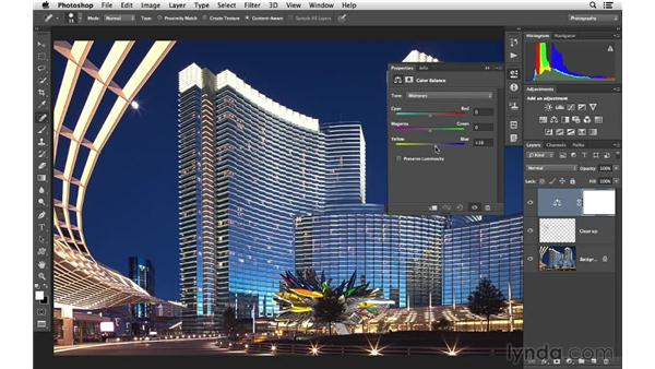 Finishing the image with Photoshop: Photoshop CC for Photographers: Intermediate